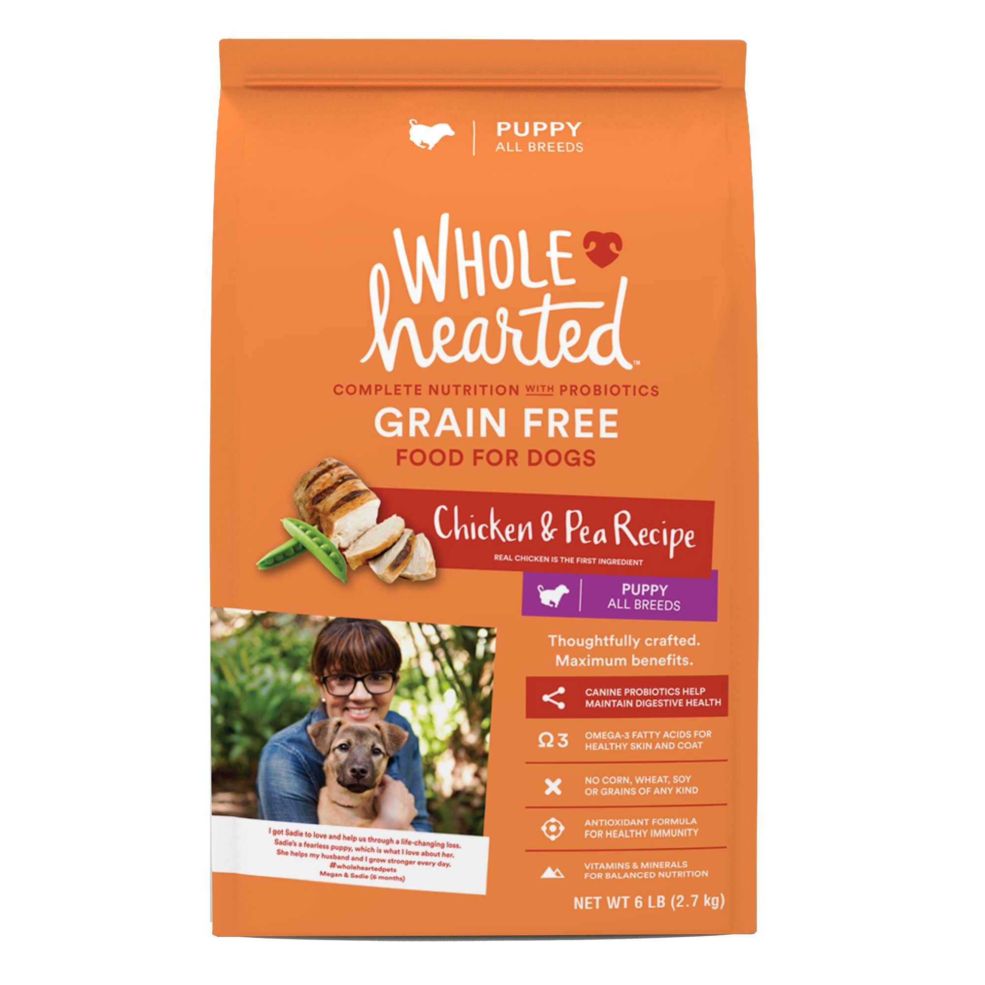 WholeHearted Puppy Food - Grain Free Chicken & Pea