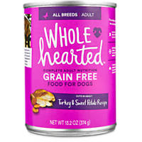 WholeHearted Adult Dog Food - Grain Free Turkey & Sweet Potato Canned Cuts in Gravy