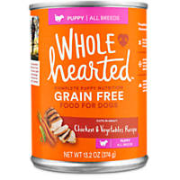 WholeHearted Puppy Food - Grain Free Chicken & Vegetables Canned Cuts in Gravy