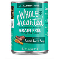 WholeHearted Adult Dog Food - Grain Free Lamb & Carrot Canned Cuts in Gravy