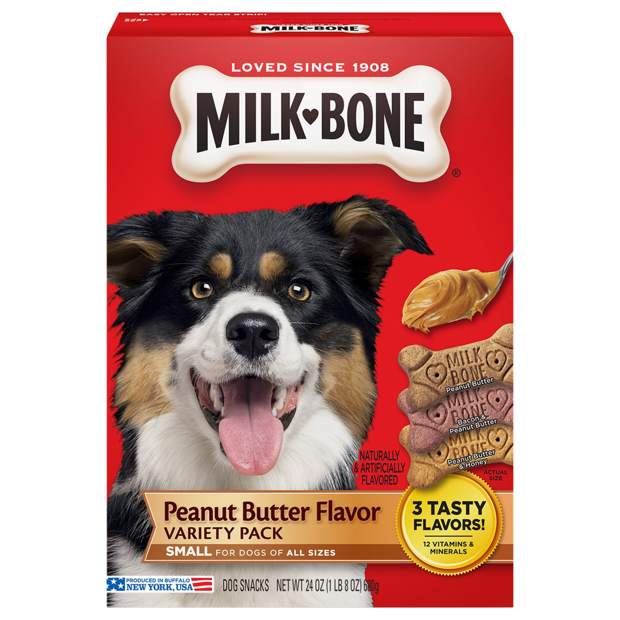 Milk-Bone Peanut Butter Flavor Small/Medium Dog Treats Variety Pack