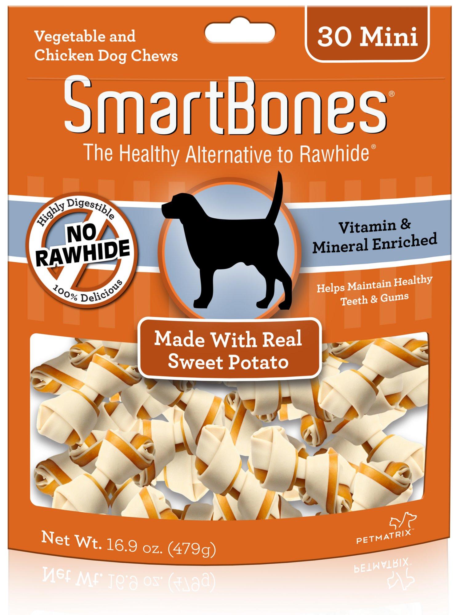 SmartBones Mini Sweet Potato Dog Chews