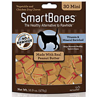 SmartBones Mini Peanut Butter Dog Chews