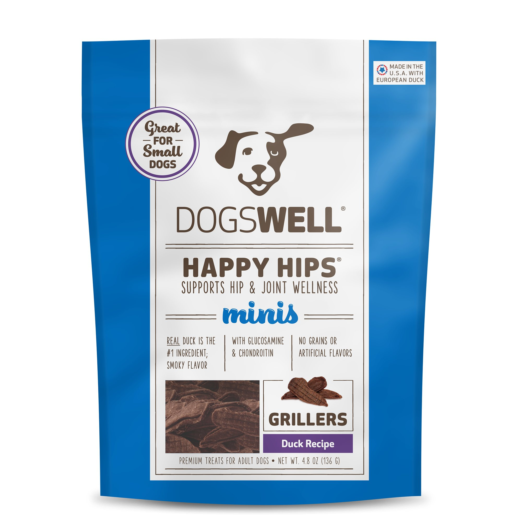 Dogswell Happy Hips Minis Duck Grillers Dog Treats