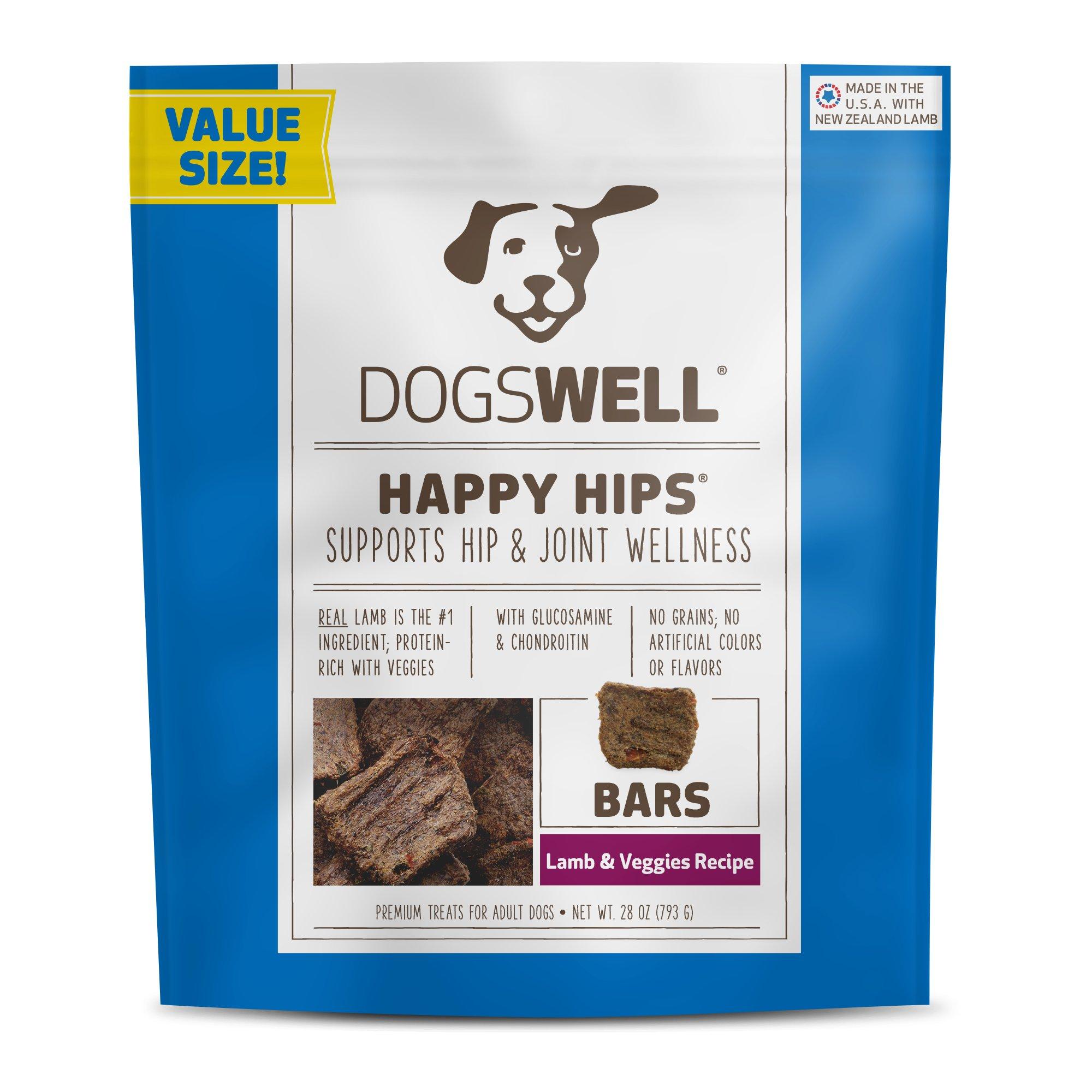 Dogswell Happy Hips Bars Lamb & Veggies Dog Treats