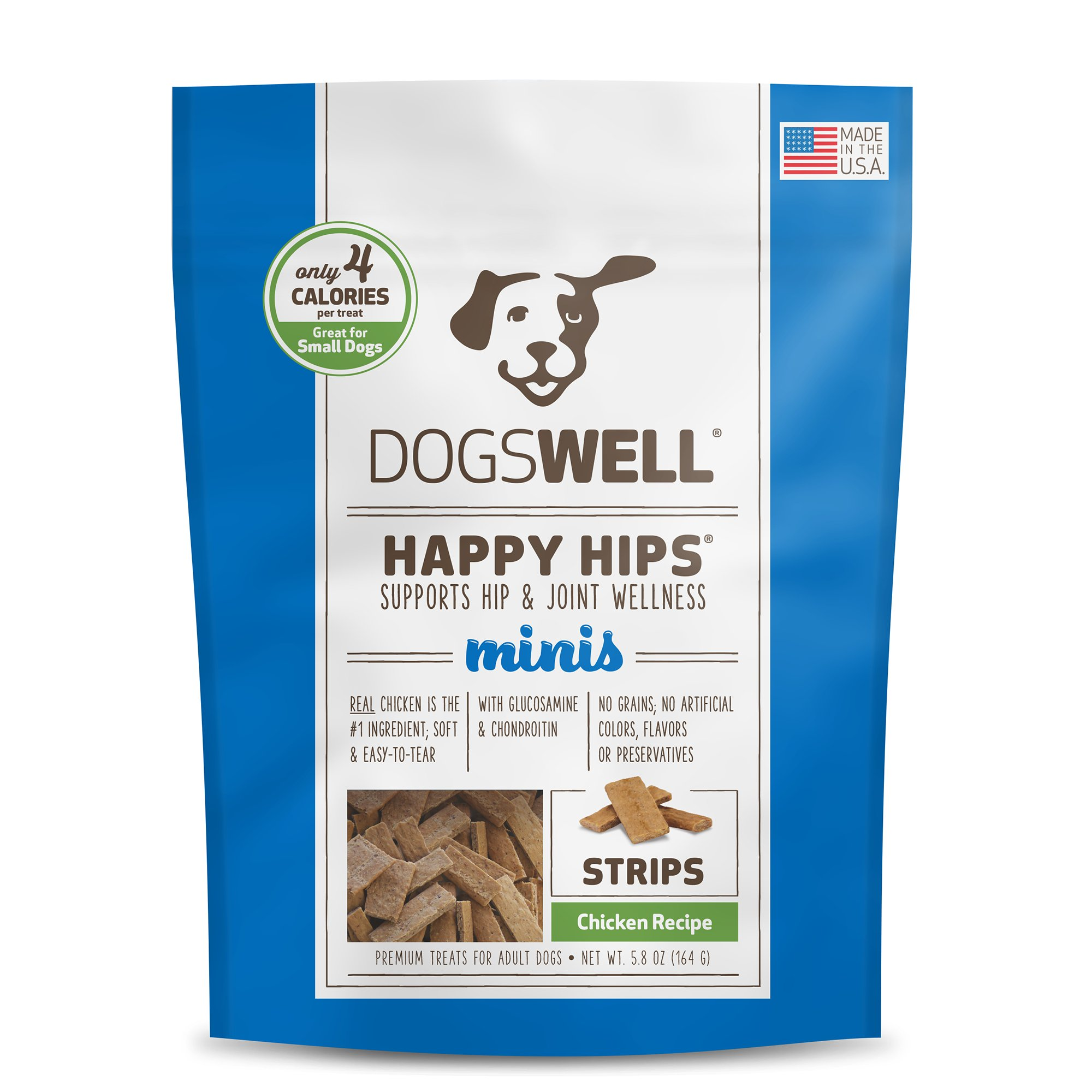 Dogswell Happy Hips Minis Chicken Strips Dog Treats