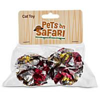 Pets on Safari Mylar Ball Pink Cat Toy, 2 Pack