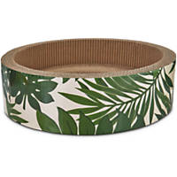 Pets on Safari Round Dish Cat Scratcher in Palm