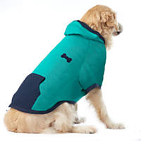 Pup Crew Green and Navy Bone Faux Quilted  Hoodie
