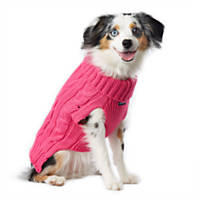 Pup Crew Hot Pink Cable Sweater