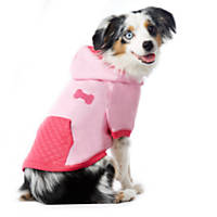 Pup Crew Pink Faux Quilted Bone Hoodie