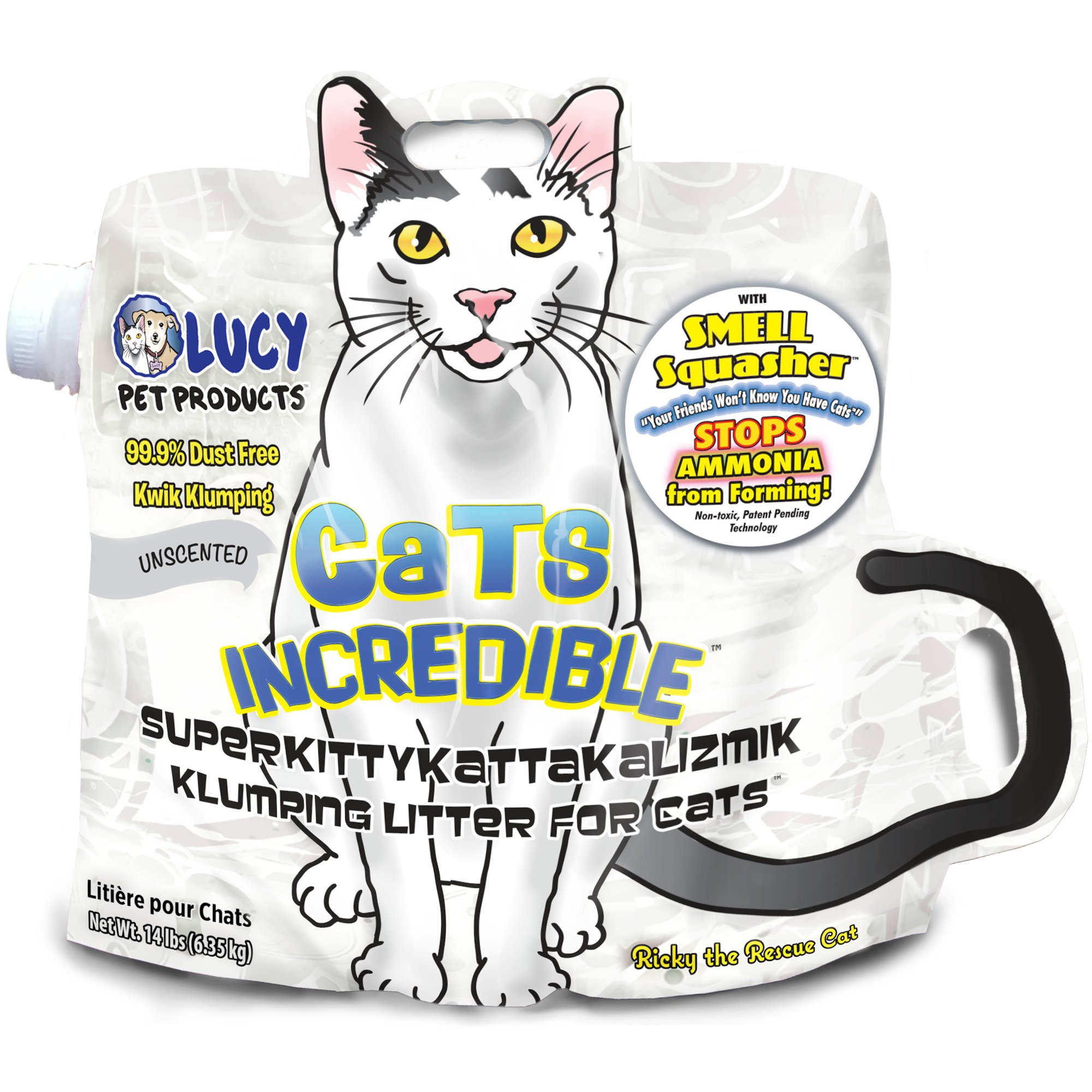 Cats Incredible with Smell Squasher Technology Unscented