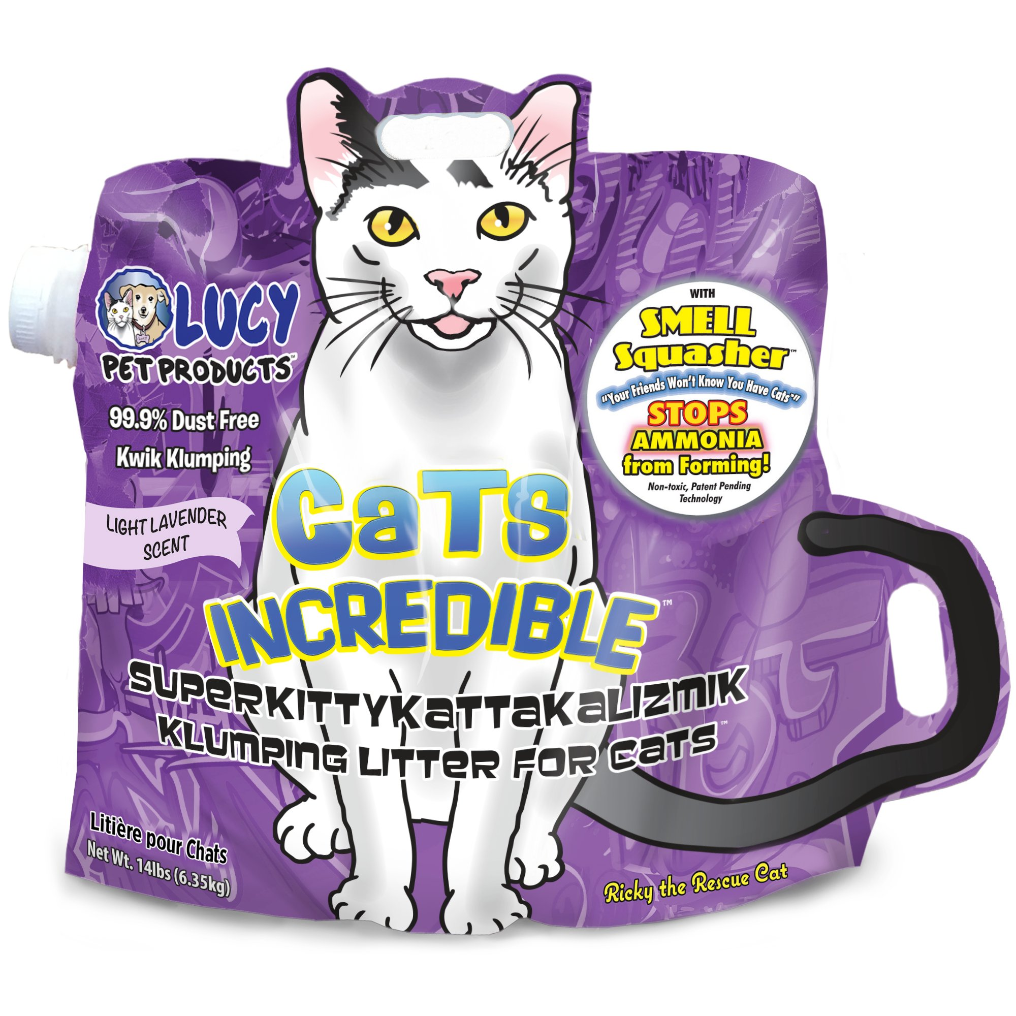 Cats Incredible with Smell Squasher Technology Lavender