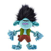 Trolls Grumpy Branch Plush with Rope Dog Toy