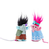 Trolls Branch and Poppy 2-Pack Mice Cat Toys