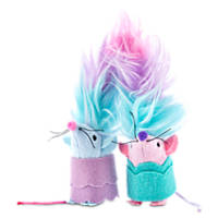 Trolls Satin and Chenille Mice Cat Toy