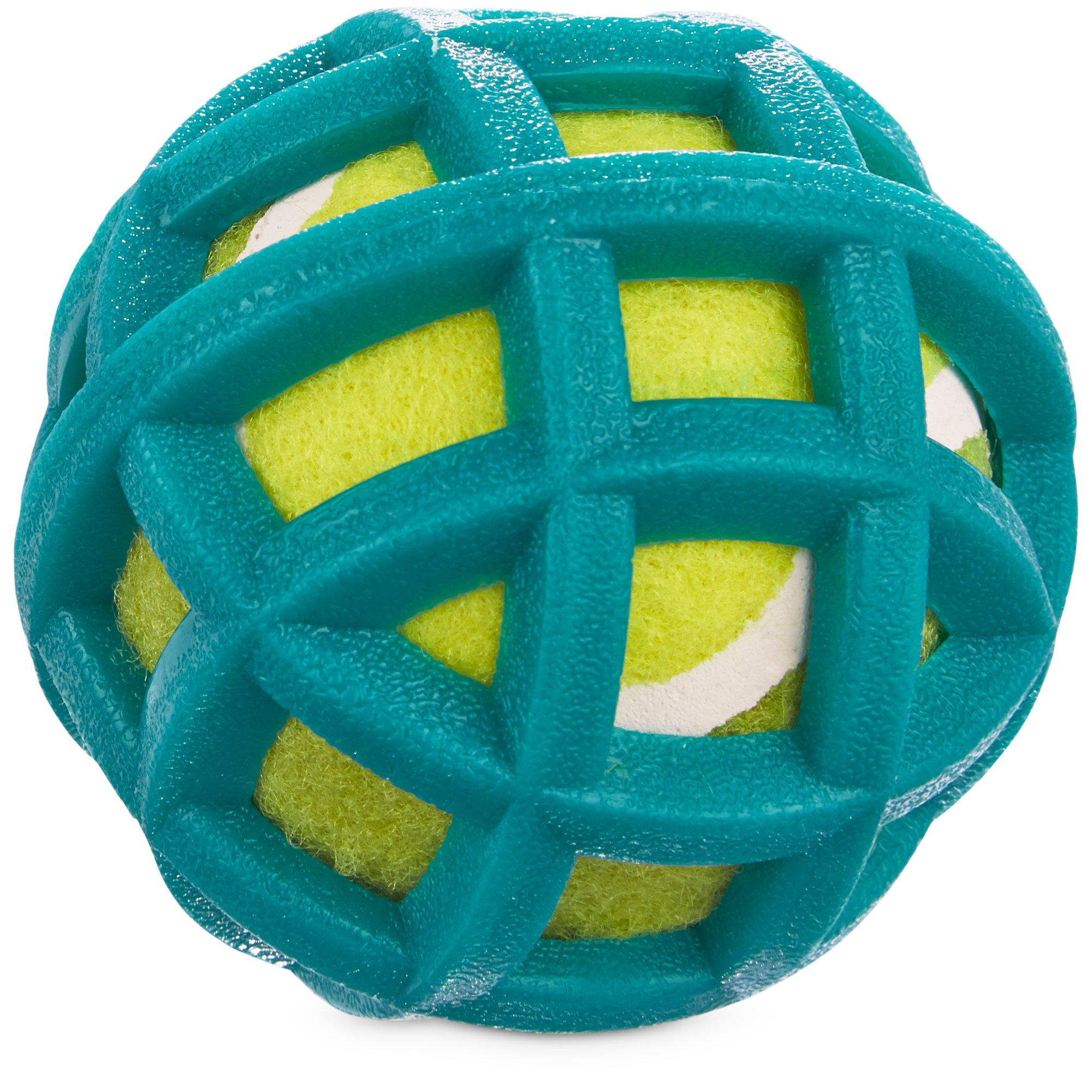 Leaps & Bounds Tennis Ball in Cage Small Dog Toy
