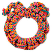 Leaps & Bounds Braided Rope Ring Dog Toy