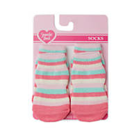 Smoochie Pooch Pink Multi Striped Socks
