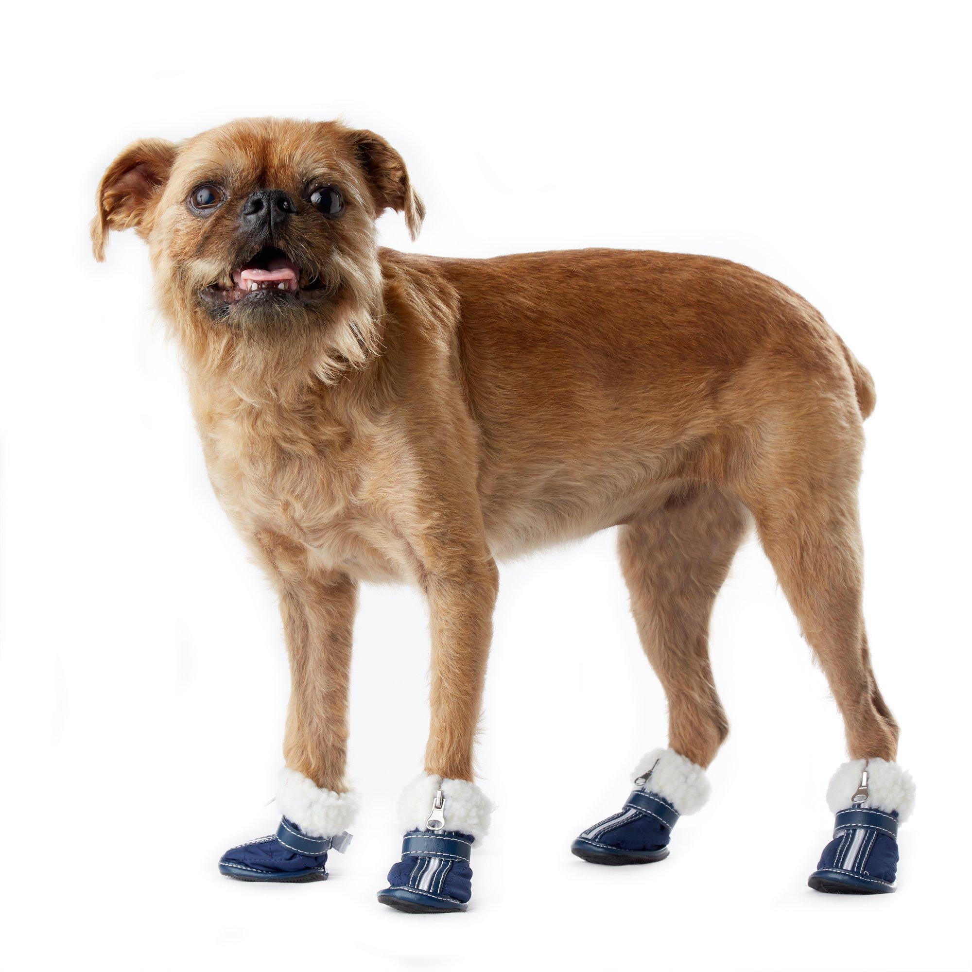 Pup Crew Navy Quilted Zip Shoes