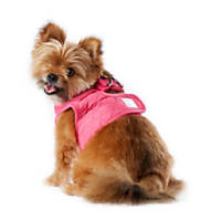 Pup Crew Pink Puffy Quilted Harness