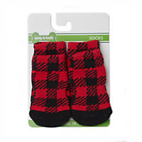 Wag-a-tude Red and Black Buffalo Checkered Sock Set