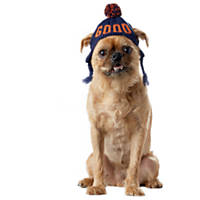 Wag-a-tude Navy and Orange 'Good' Knit Hat