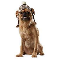 Wag-A-Tude Gray Fair Isle Knit Hat