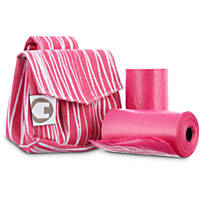 So Phresh Pink Safari Fabric Bag Dispensers and Refill Roll