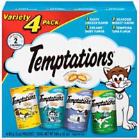 Whiskas TEMPTATIONS Classic Feline Favorite Variety Pack Cat Treat