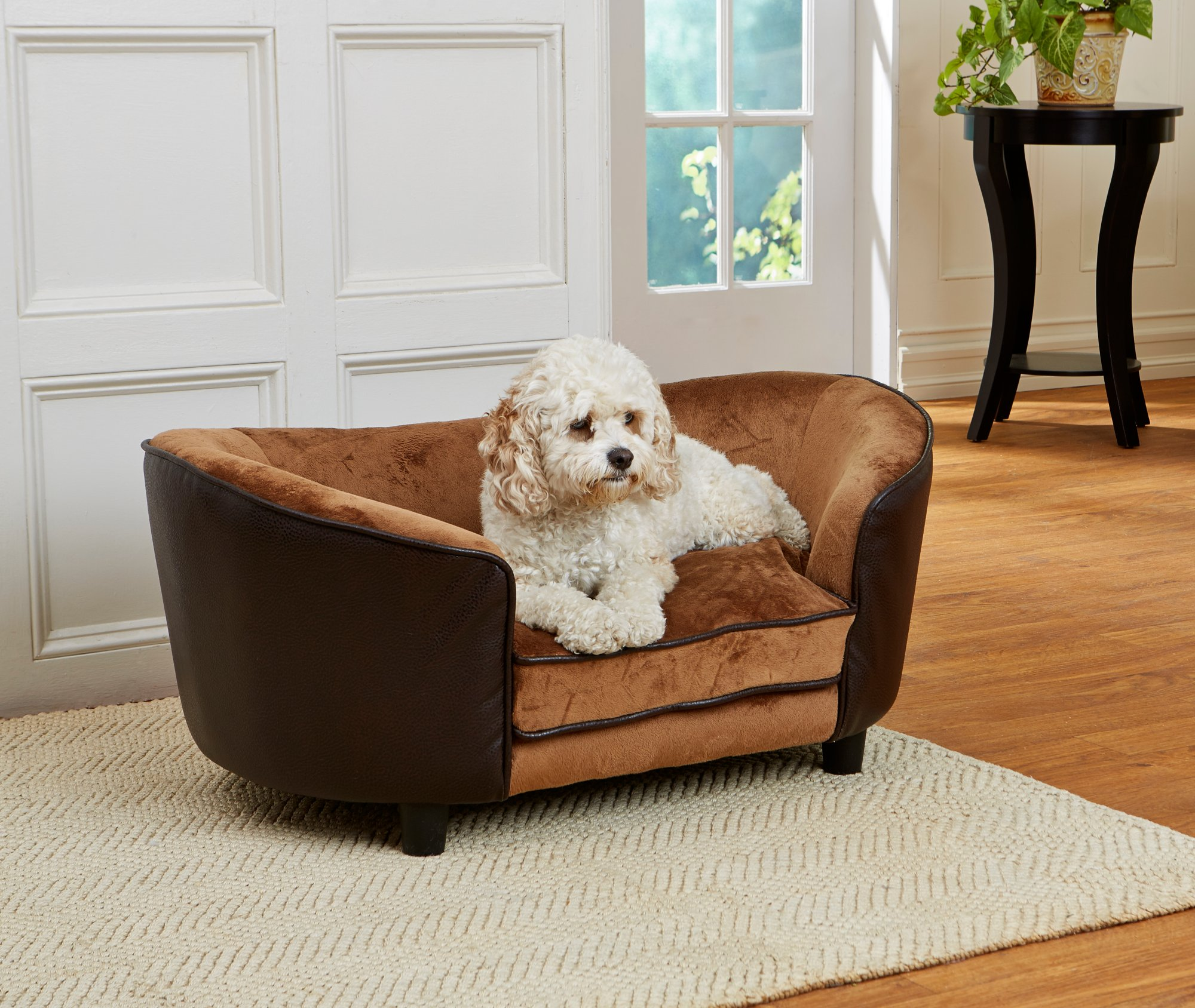 Enchanted Home Pet Brown Ultra Plush Hudson Pet Bed