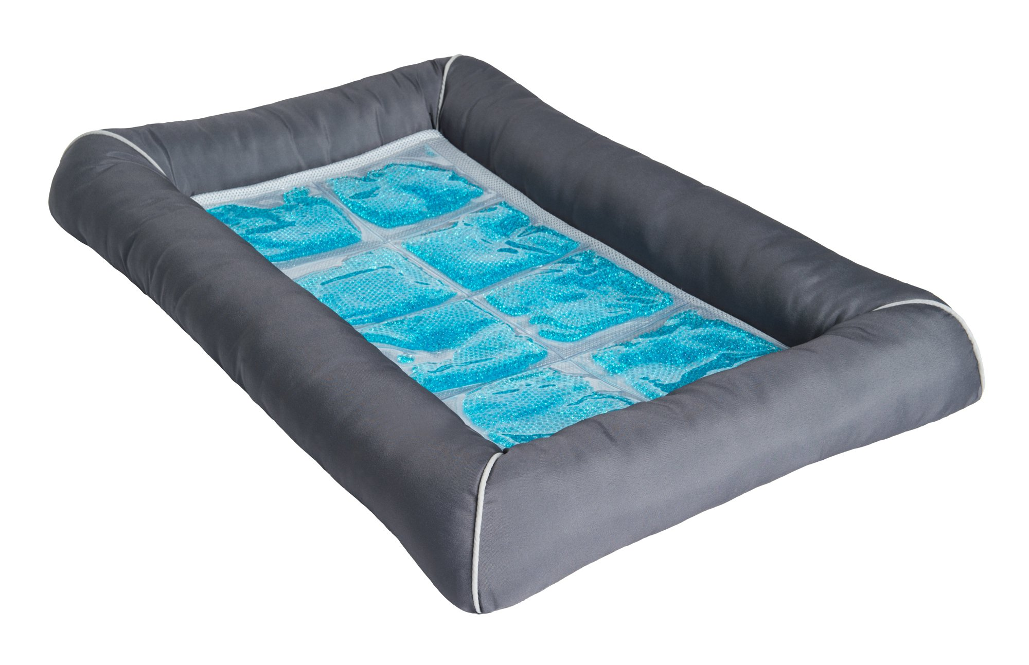 Pet Therapeutics Grey Theracool Cooling Gel Pet Bed Petco