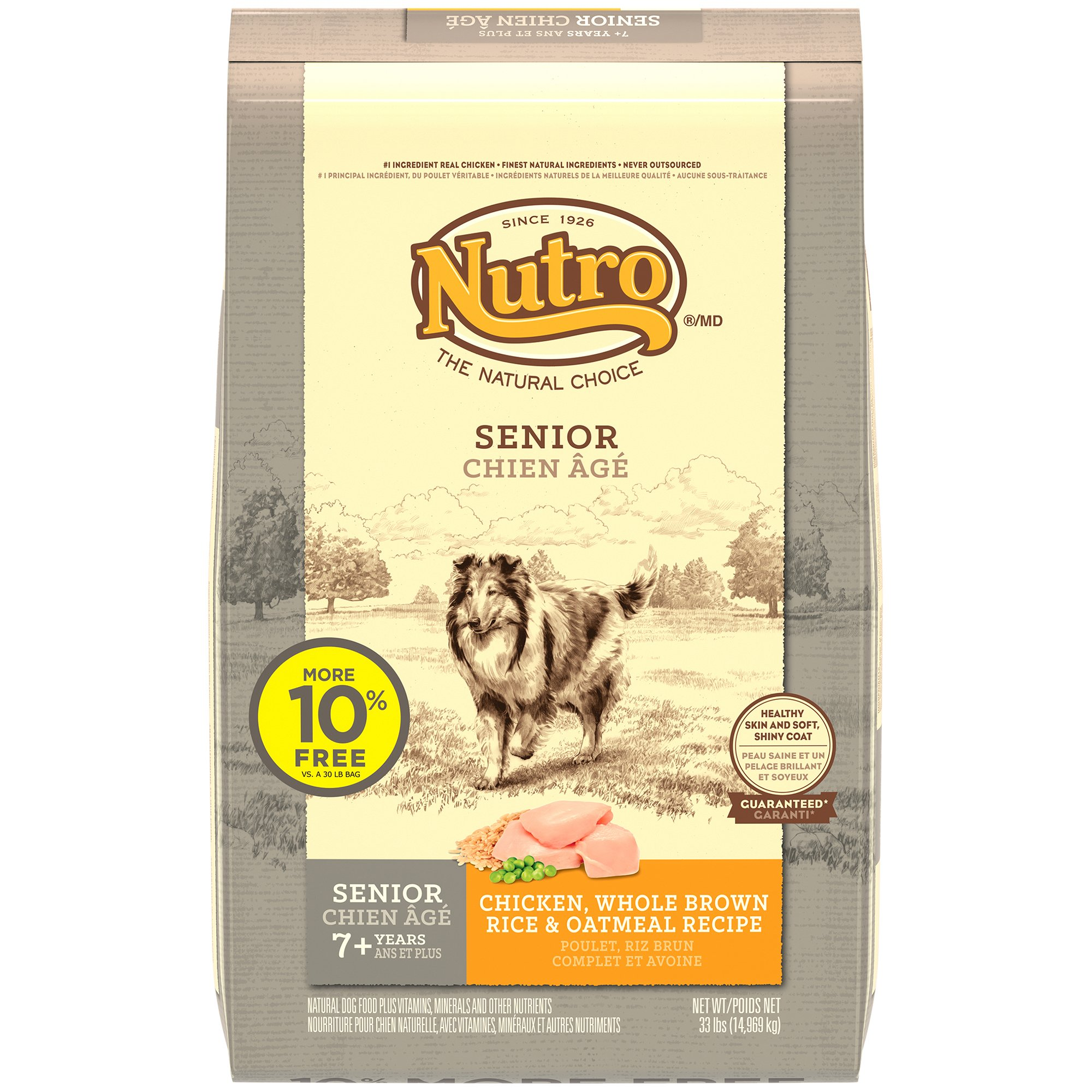 Nutro Chicken, Whole Brown Rice & Oatmeal Senior Dog Food