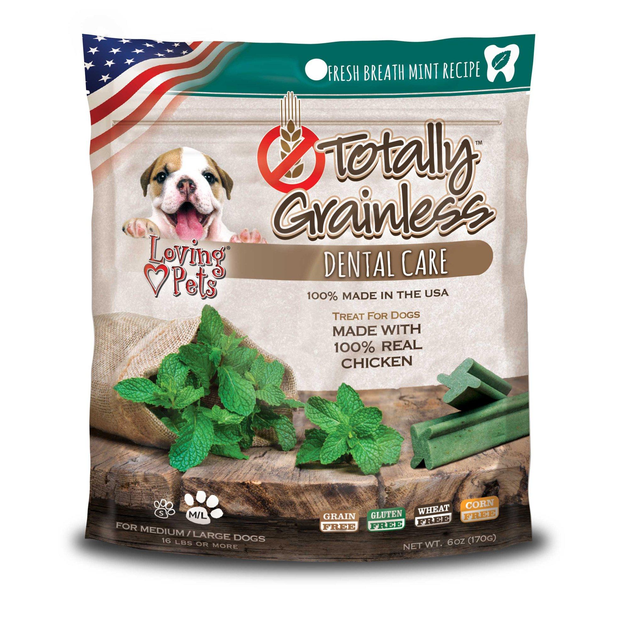 Loving Pets Totally Grainless Fresh Mint Dental Dog Chews