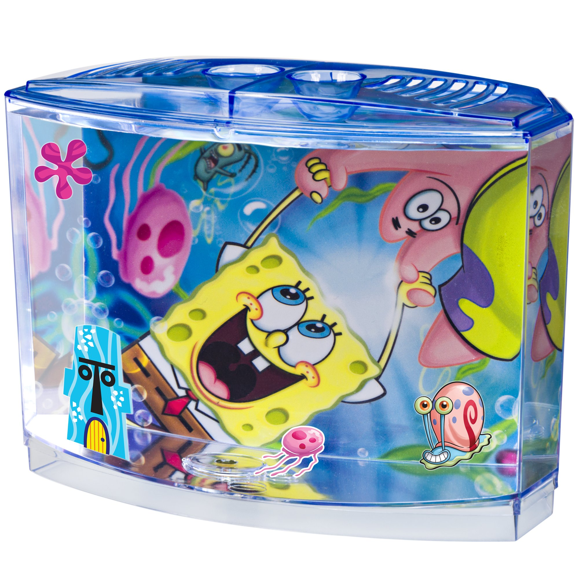 Penn plax spongebob squarepants betta aquarium kit 0 5 for Betta fish tanks petco