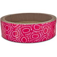 Pets on Safari Round Dish Cat Scratcher in Pink