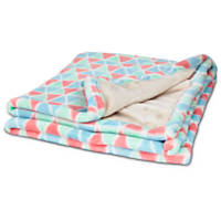You & Me Multicolored Triangle Print Throw