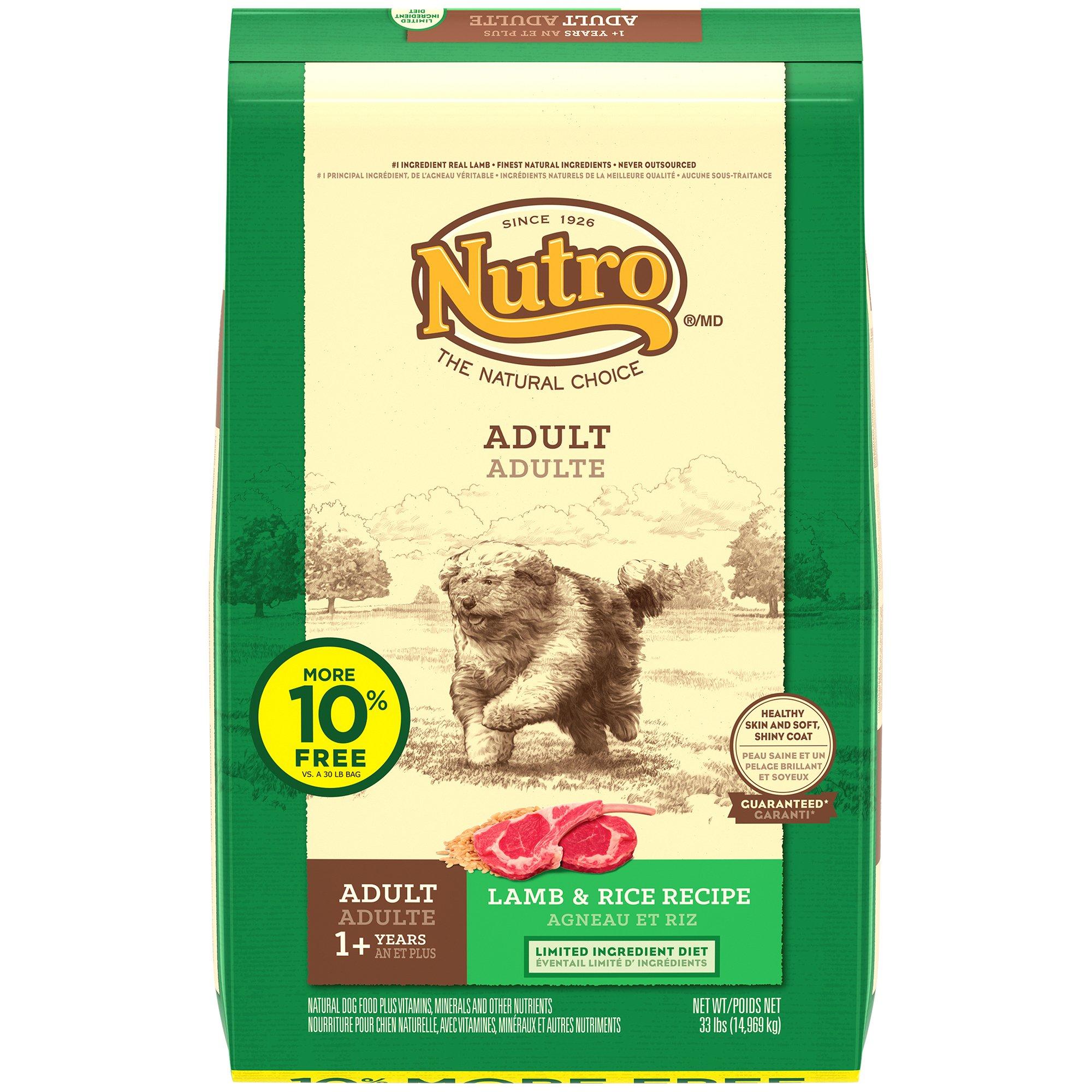 Nutro L.I.D. Lamb & Rice Adult Dog Food