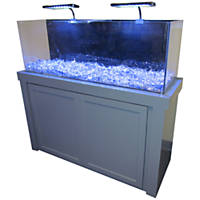 50 Gallon Grey Fusion Series Cabinet & Tank Combo