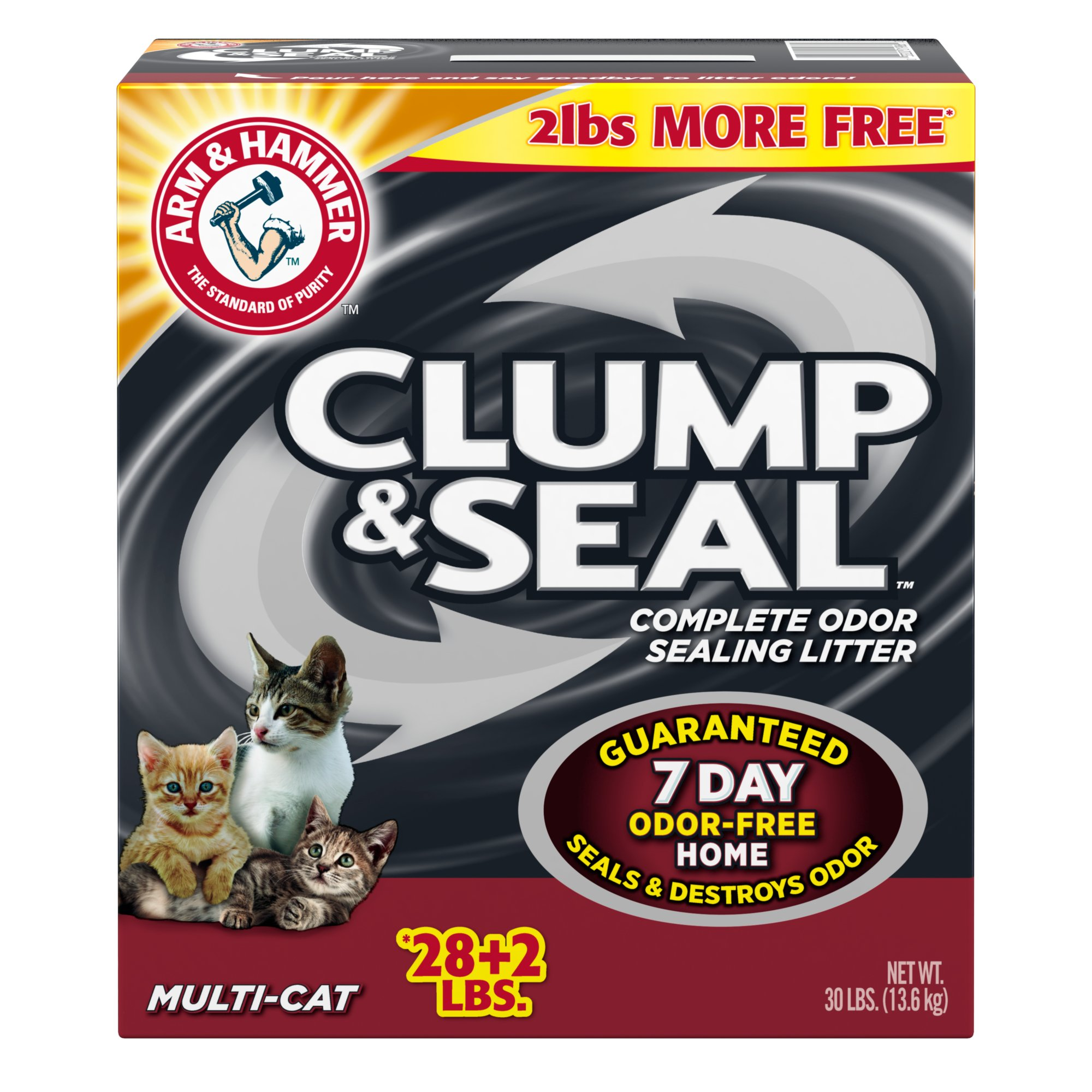 Arm & Hammer Clump & Seal Multi-Cat Odor Sealing Cat Litter
