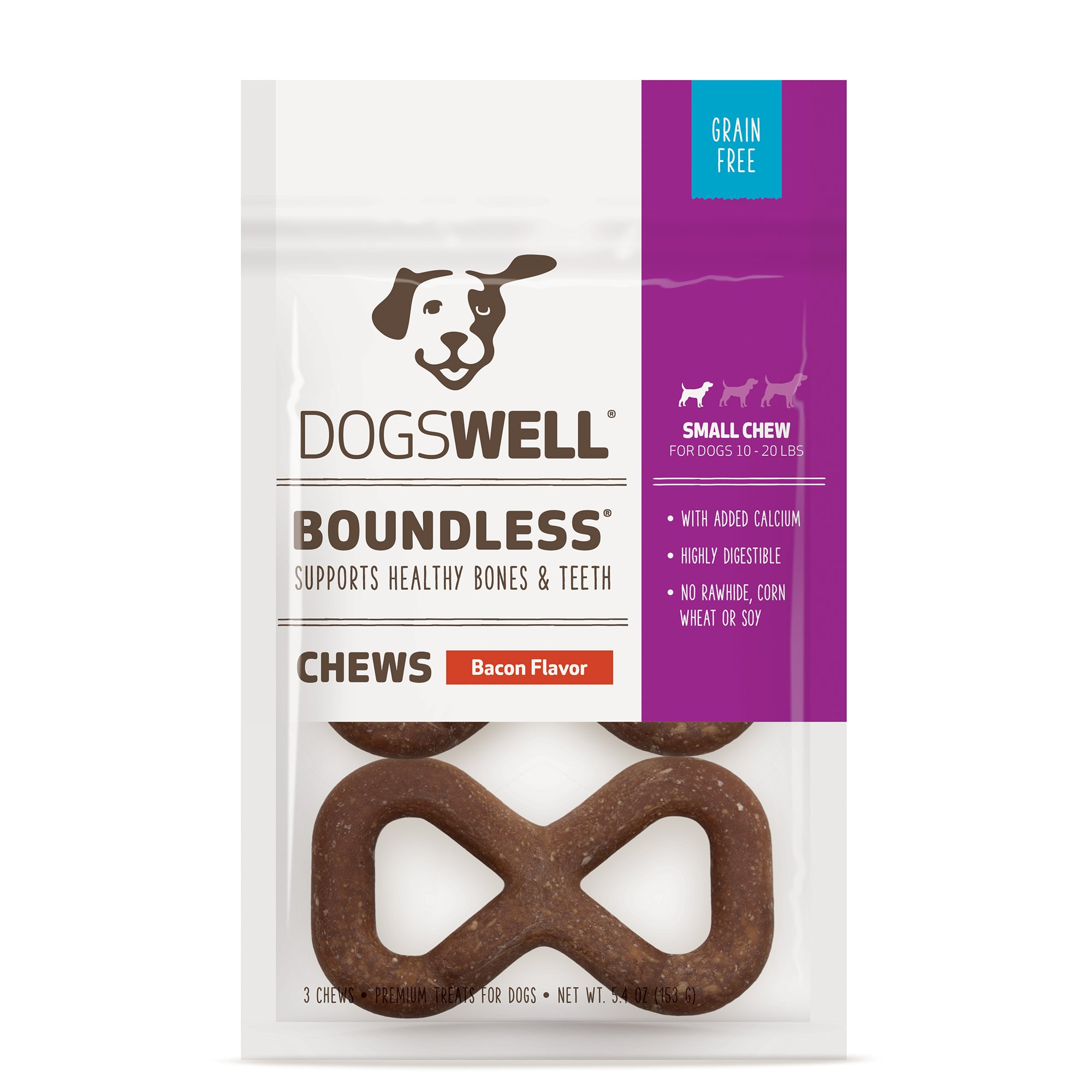 Dogswell Boundless Small Bacon Dog Treats