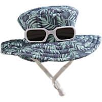 Bond & Co. Blue Palm Leaves Sunglasses Bucket Dog Hat