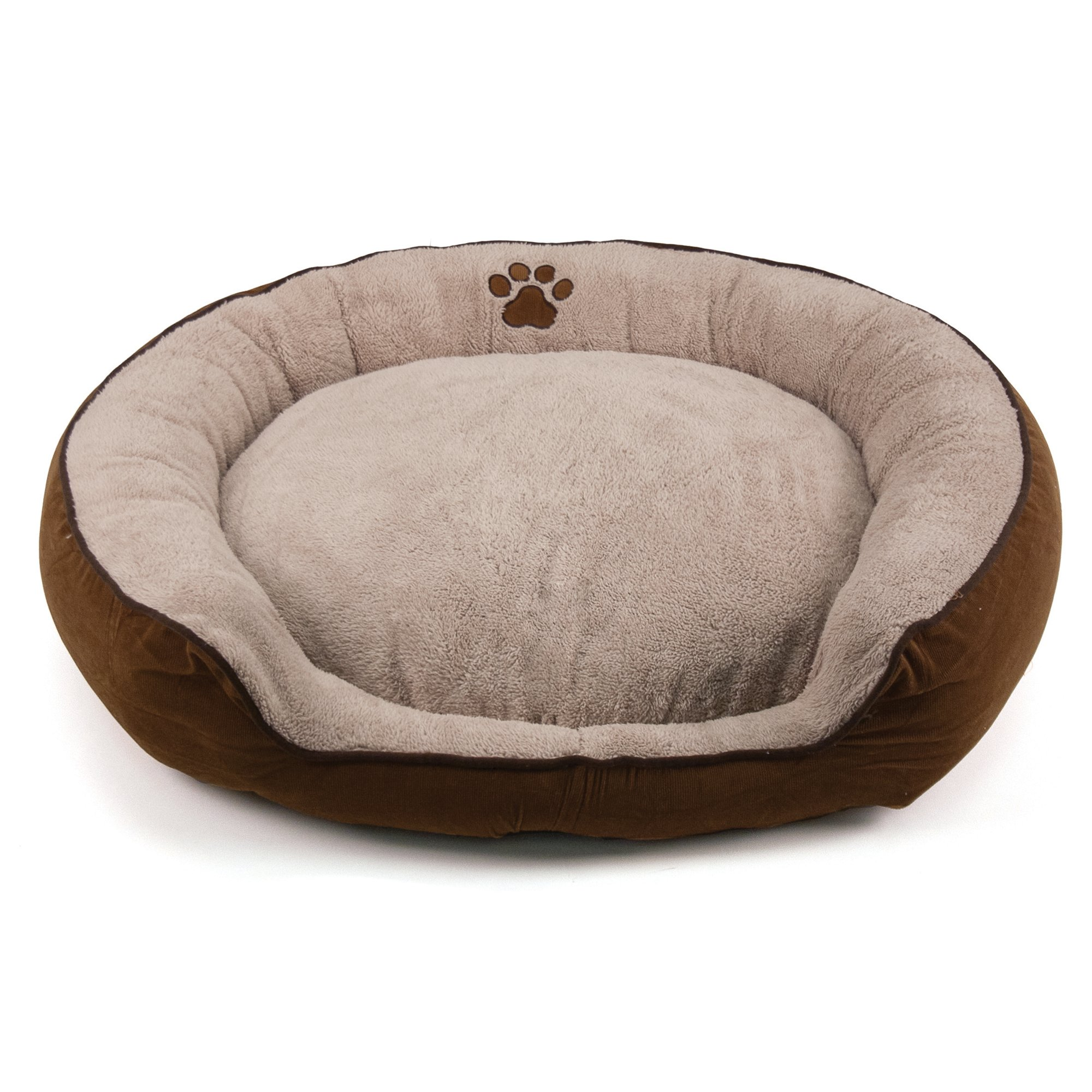 Dallas Manufacturing Tan Round Stepover Pet Bed