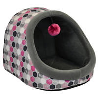 Dallas Manufacturing Pink Hooded Pet Bed