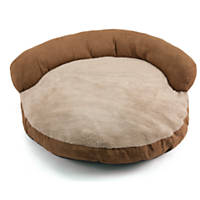Dallas Manufacturing Tan Faux Suede Couch Bed