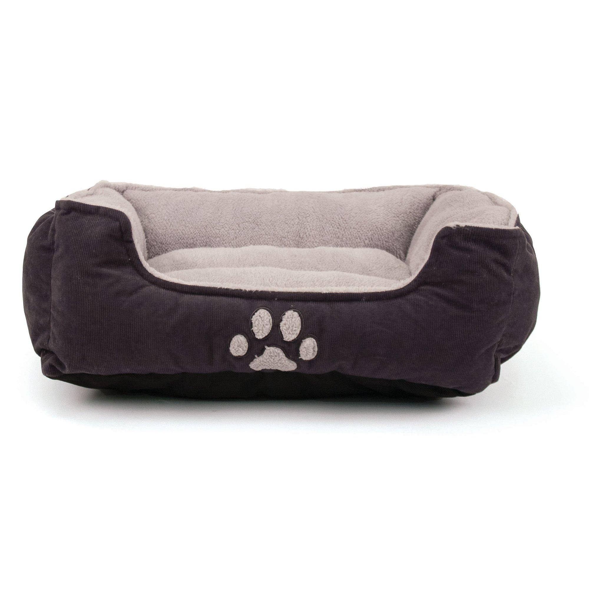Dallas Manufacturing Purple Paw Print Cuddler Pet Bed