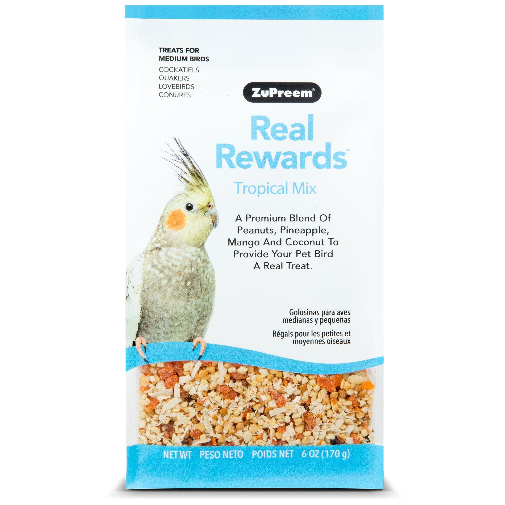 ZuPreem Real Rewards Tropical Mix Treats for Medium Birds