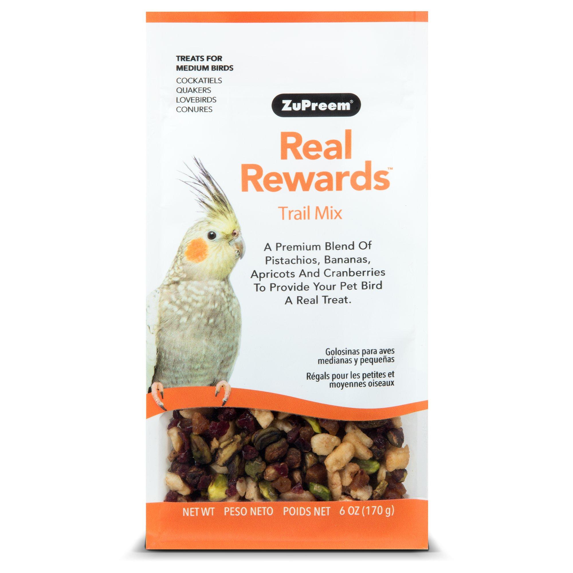 ZuPreem Real Rewards Trail Mix Treats for Medium Birds