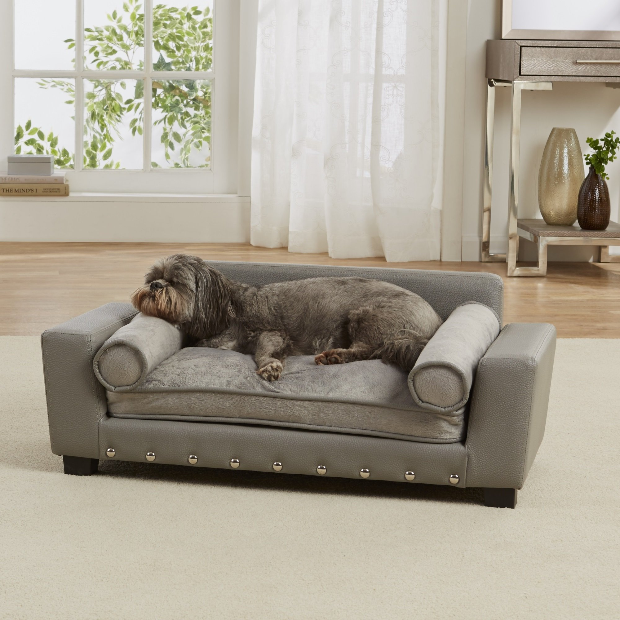 Enchanted Home Pet Grey Scout Pet Sofa Petco