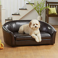Enchanted Home Pet Brown Dorchester Pet Sofa with Storage